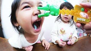 ●普段遊び●「おやつ?」ワニぱくハンドで遊びました^^まーちゃん【4歳】おーちゃん【2歳】 thumbnail