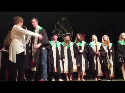 Vilnius international School VIS 2014-05-31 10th anniversary spring concert, 10th grade graduation