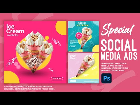 Photoshop Tutorial: social media post for Graphic Designer 2021