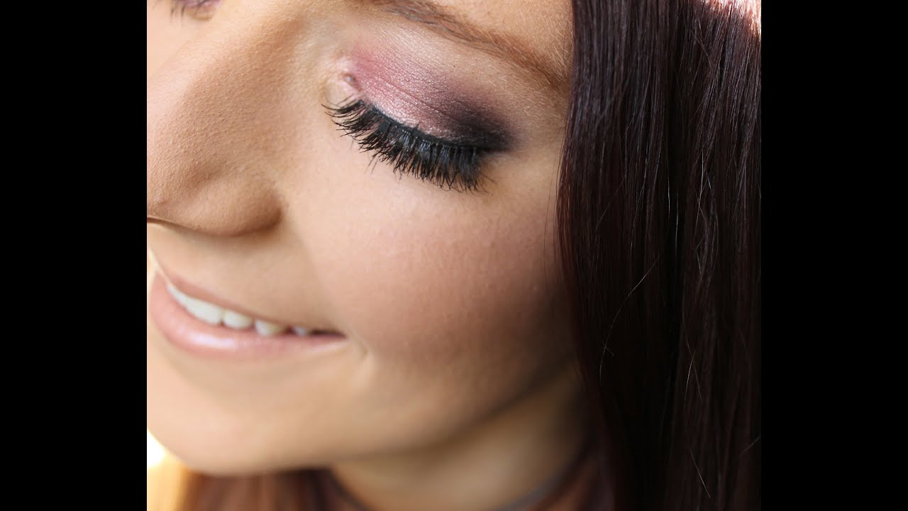 pink and purple smokey eye drugstore makeup tutorial