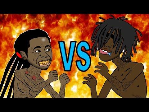 Lil Wayne Vs Chief Keef  Fight (HHB Cartoon Parody)