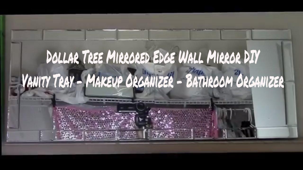 Dollar Tree Double Wall Mirror Home Decor Vanity Tray Bathroom
