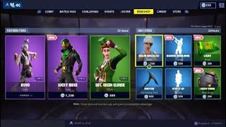 Fortnite Item Shop NEW LUCKY RIDER SKIN & SGT. GREEN CLOVER RETURNS! [March 16th, 2019]