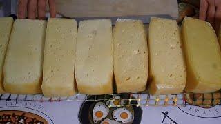 Обезжиренный твердый сыр на разных сроках вызревания / Как сделать сыр в домашних условиях