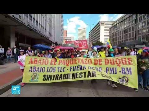 آلاف المتظاهرين في اليوم الـ14 من الاحتجاجات على سياسة الرئيس الكولومبي إيفان دوكي  - 16:00-2019 / 12 / 6