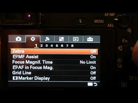 Sony Alpha A6300 Menus and shooting (Pause to read)