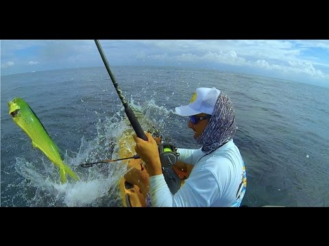 Kayak Fishing, Pompano Beach,FL. Two Mahis, Wahoo And A Kingfish!