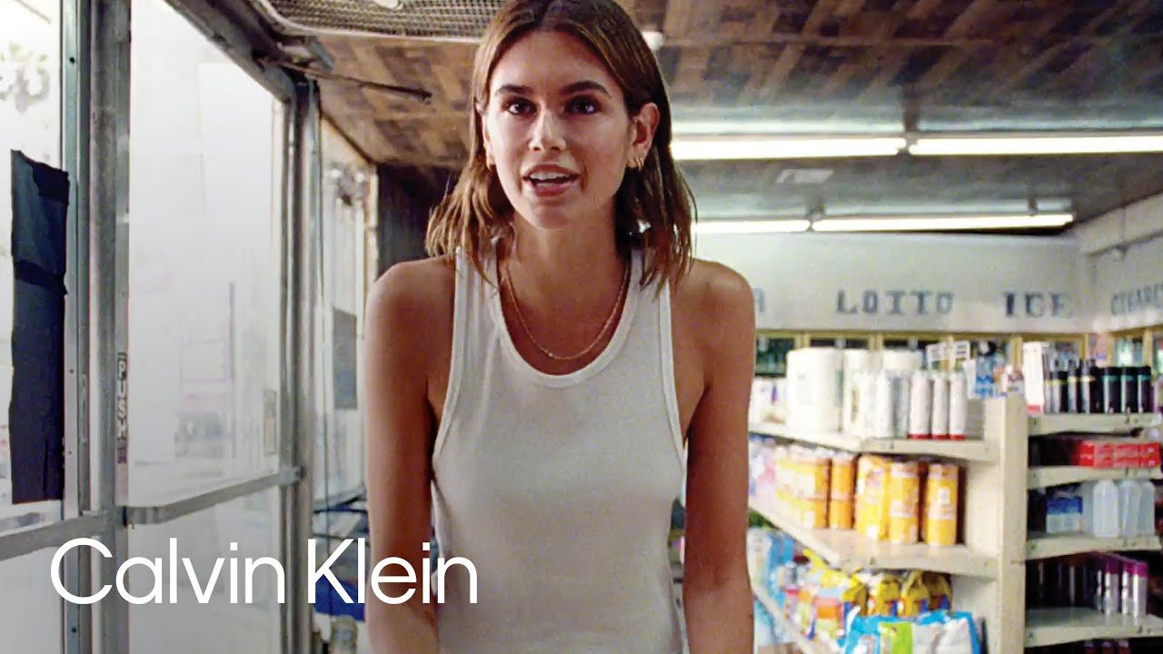 Model Kaia Gerber Lets It Out at the Bodega | The Language of Calvin Klein #mycalvins