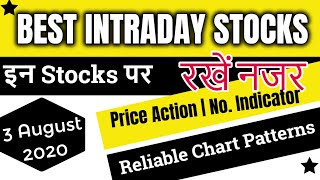 Best Intraday trading stocks for 3 August 2020 | Free Intraday Tips | Jackpot Stocks for tomorrow