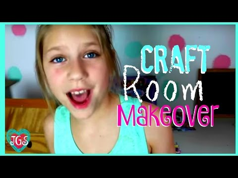 Girl's Craft Room Makeover Tour & Ideas | Hope's New DIY Craft Room Tour | Best Friends
