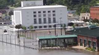 Flooding in Burlington, Iowa - View from Bridge