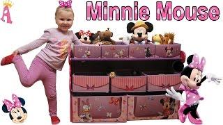 Посылка из США минни маус Disney Multi Bin Toy Organizer Minnie Mouse Unboxing