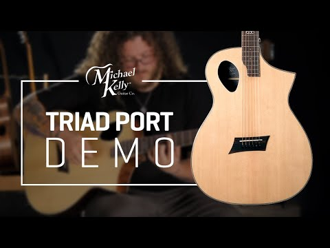 Triad Port by Michael Kelly Guitars  Acoustic Guitar Demo