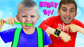 Put On Your Shoes Song  Pretend Play Morning Routine Brush Teeth Nursery Rhymes Kids Songs