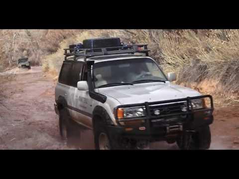 MODIFIED LAND CRUISERS  Rockcrawling  a 500ft drop in MOAB