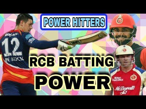 IPL 2018: RCB TEAM BATTING ATTACK FOR SESSION 11 | RCB POWER HITTERS