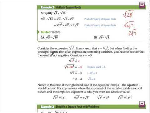 10-2 Notes Simplifying Radical Expressions - YouTube