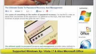 Password Recovery / Supported Windows Xp/Vista/7 | The Ultimate Guide