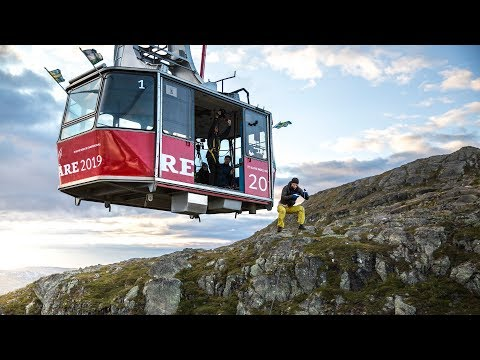 Ski lift Rope Swing - Behind the scene