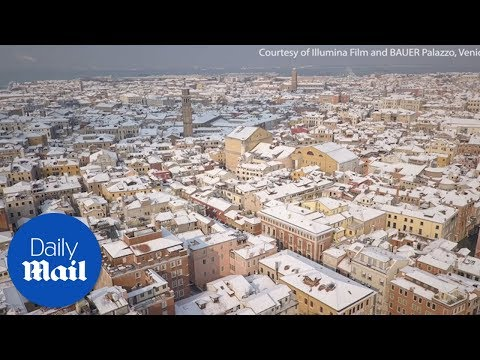Snow has fallen in Venice - Daily Mail