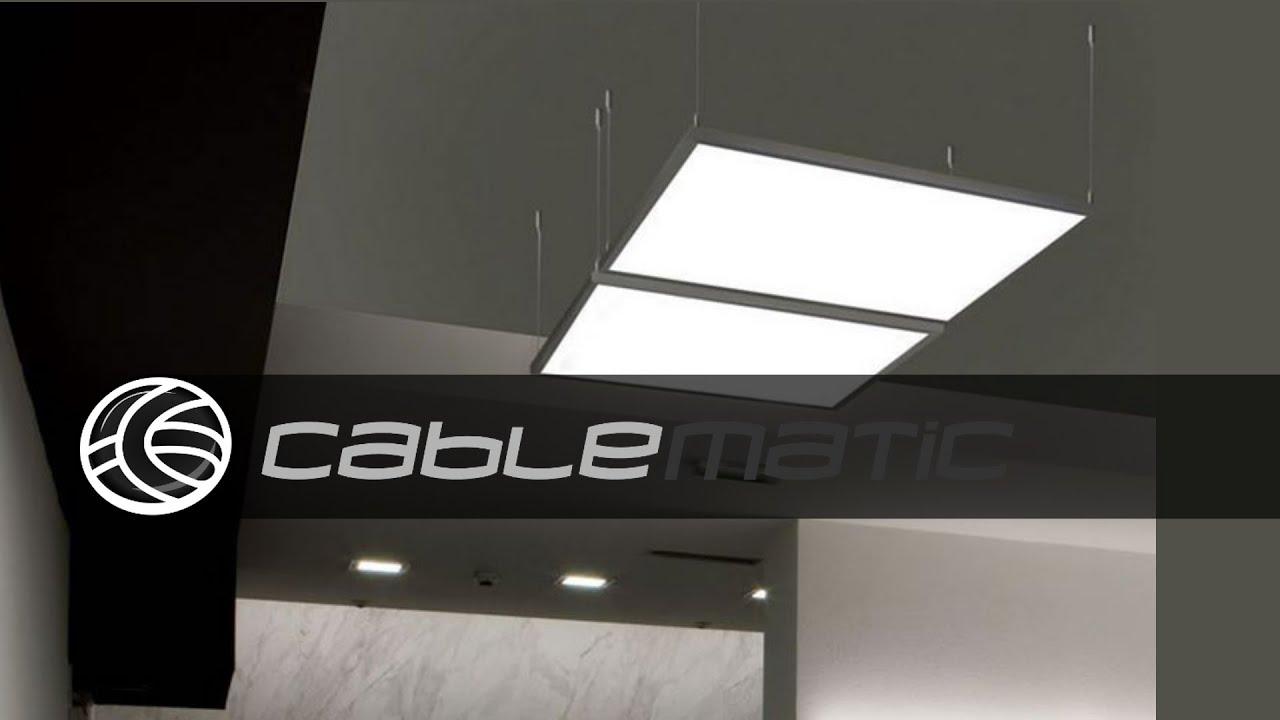 Kit de montaje de cables de acero para panel led colgante - Cables de acero ...
