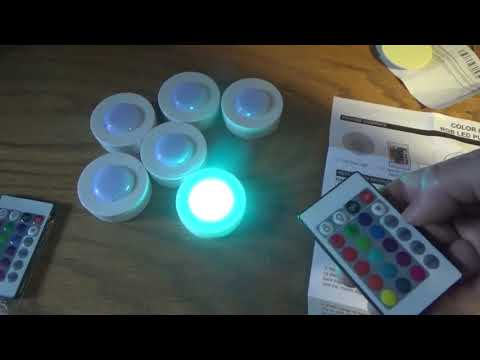 Package Arrived With 6 RGB LED Puck Lights W Remote Controls