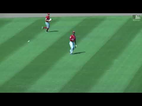 Tim Tebow's First Hit of the Spring vs Nats