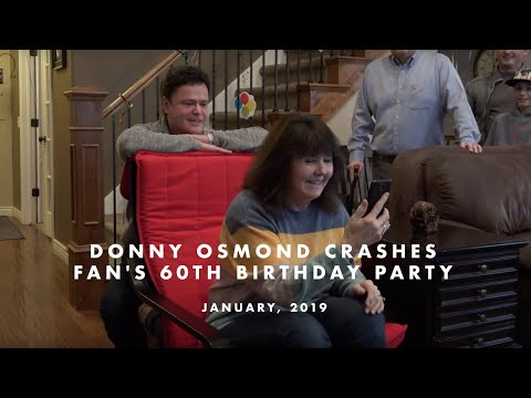 Fisher - Donny Osmond Shocks Fan, Drops In On 60th Birthday Party
