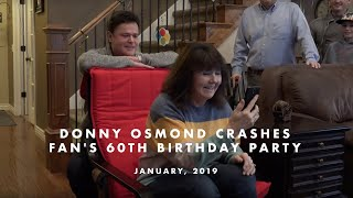 Donny Osmond Crashes Fan