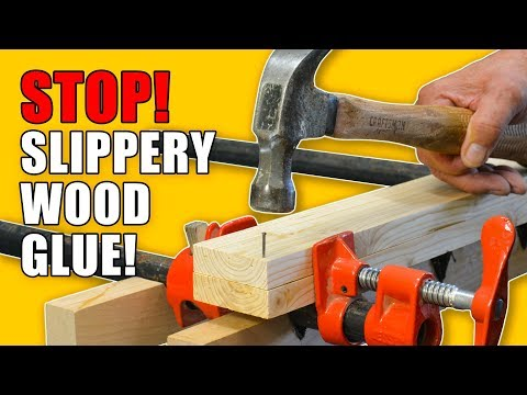 Stop Slippery Wood Glue Ups: 5 Quick Gluing Hacks - Woodworking Tips and Tricks