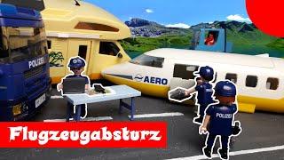 Der Flugzeugabsturz Playmobil Polizei Feuerwehr Film deutsch  stop motion  Plegus