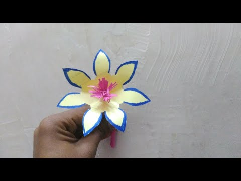 Beautiful flowers,how to make beautiful flowers with paper,DIY Craftghost orchid, beautiful flowers,
