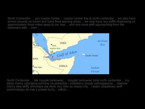 Somali Pirates - attack recorded from  VHF