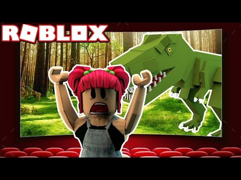 JURASSIC WORLD! | Roblox ESCAPE THE CINEMA OBBY! | Amy Lee33