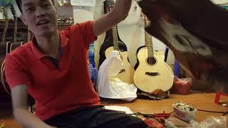 Guitar gỗ thịt nguyên tấm. Mã FS4. 1800k.