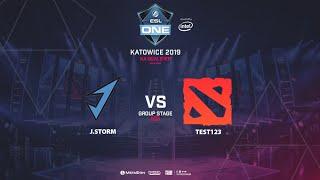 J.Storm vs Test123, ESL One Katowice, NA Qualifier, bo5, game 1 [Adekvat]
