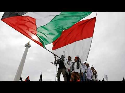 AKSI BELA PALESTINA Untuk Palestina Tercinta (lirik & Video)#11518