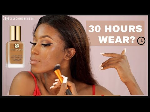 ESTEE LAUDER DOUBLE WEAR FOUNDATION REVIEW   30 HOURS WEAR AND TRANSFER TEST thumbnail