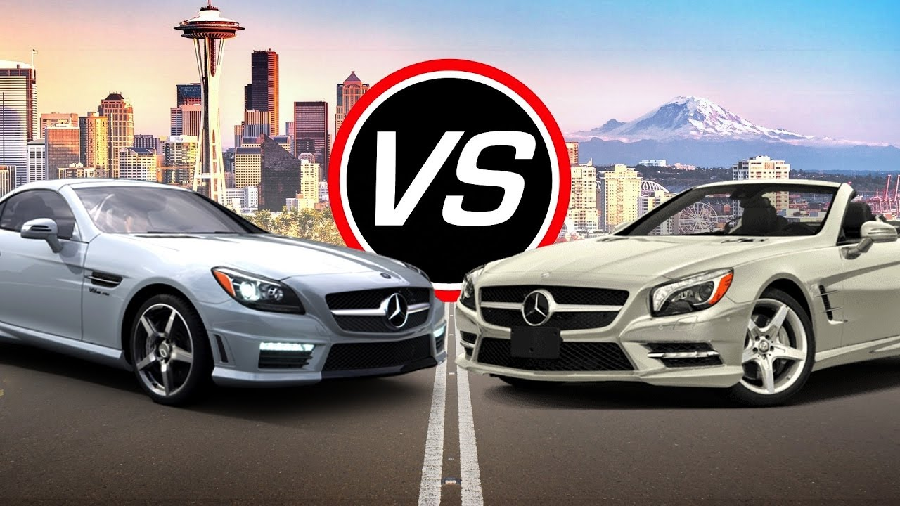 2016 Mercedes Amg Slk55 Vs Sl550 Spec Comparison Youtube