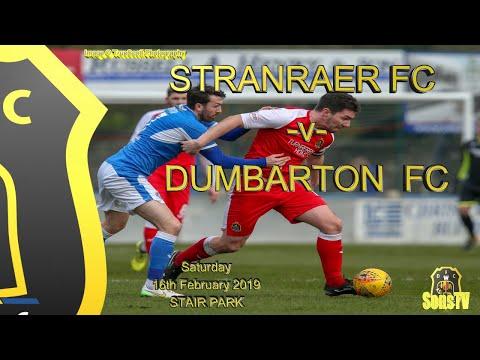 Stranraer FC v Dumbarton FC, Ladbrokes SPFL League One, Sat 16th Feb 2019