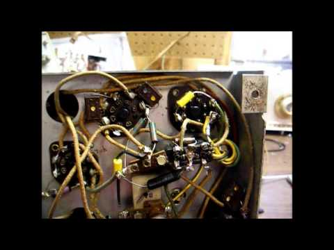Repair of a botched up Philco 38-93 tube radio