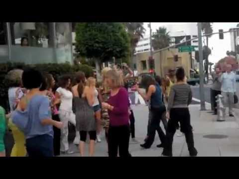 Flash Mob at Equinox Beverly Hills Fitness Club featuring Ashley Roberts from the Pussycat Dolls