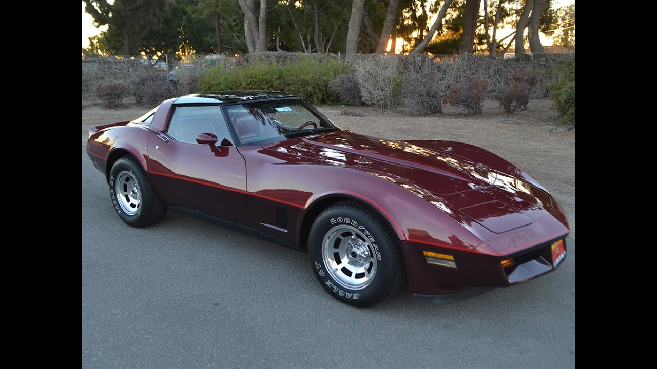 Sold 1981 Chevrolet Corvette Coupe In Autumn Red For Sale