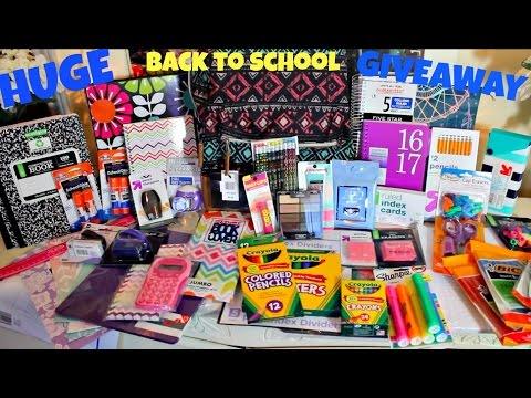 HUGE INTERNATIONAL BACK TO SCHOOL GIVEAWAY! (CLOSED)