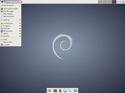 Debian 7.8 Xfce 64 bit. Install and review.