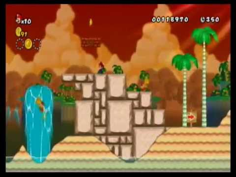 NEWER Super Mario Bros Summer Sun for the Nintendo Wii Gameplay (Best Wii Game Hack Ever!)