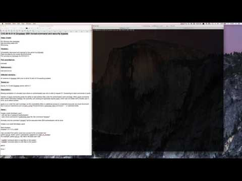 CVE-2016-3116 Dropbear SSH forced-command and security bypass - YouTube