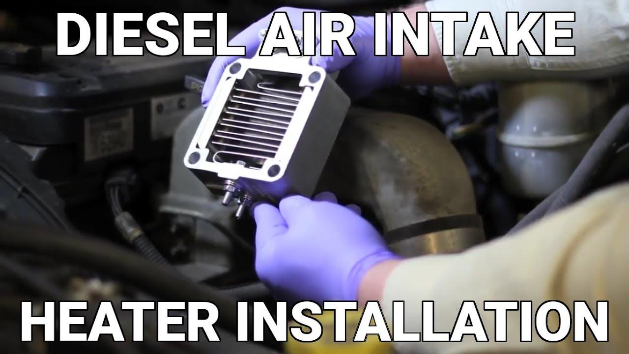 diesel air intake heater installation know your parts [ 1280 x 720 Pixel ]