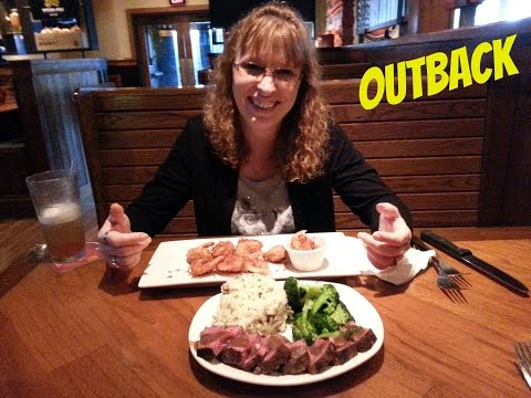 Eating at OutBack Steakhouse