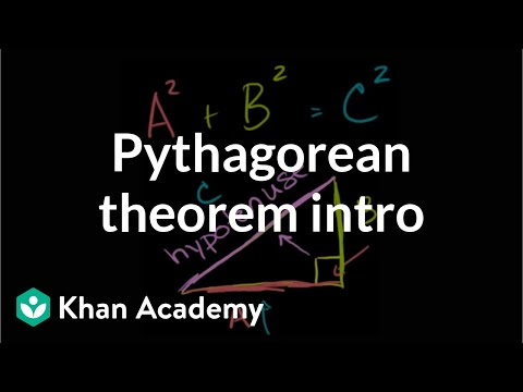 The Pythagorean theorem intro | Right triangles and trigonometry | Geometry | Khan Academy